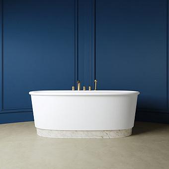 Devon&Devon Holiday Ванна 175.7х66.5х89.7 см, из WHITE TEC PLUS, с донным клапаном с крышкой из WHITE TEC (цоколь белый), цвет: белый