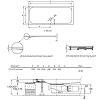 BETTE Душевой поддон 170x75x3.5 см, прямоугольный, D90 мм, с противоскользящим покрытием, цвет: белый