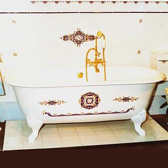 Herbeau Josephine Ванна свободностоящяя на ножках, 170х78х47,5 см, цвет белый с декором