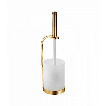 Ершик туалетный напольный Bongio Fleur, цвет: золото 24к.