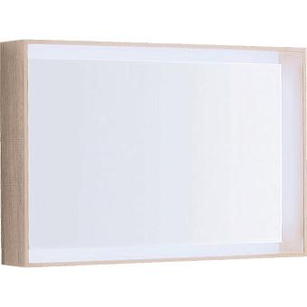 Geberit Citterio Зеркало с подсветкой 118.4х58.4см, цвет: Бежевый дуб/меламин