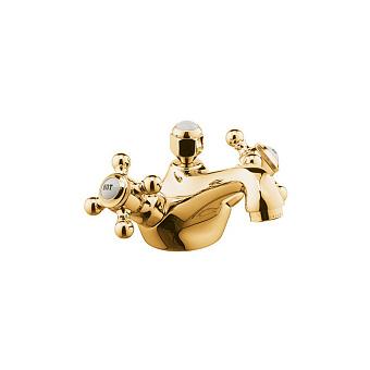 Kludi Adlon Смеситель для раковины, на 1 отв., с донным клапоном, цвет: золото