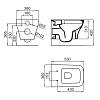 """Noken Forma Подвесной унитаз """"rimless"""" безободковый, размер 53х36см, цвет: белый"""