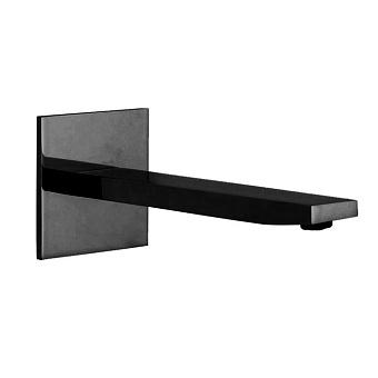 Carlo Frattini Zeta Излив для настенного монтажа 201мм., цвет: черный матовый