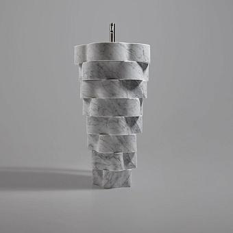 Antonio Lupi Intreccio Раковина напольная 47x85 см, с донным клапаном и сифоном, мрамор: Marmo di Carrara