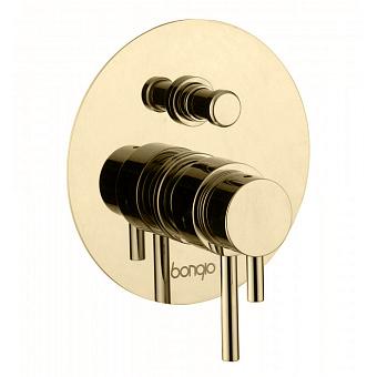 Bongio T Mix Встраиваемый термостатический смеситель для душа, 2 отв., цвет: золото