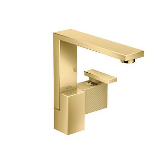 Axor Edge Смеситель для раковины, на 1 отв., с донным клапаном push/open, излив 175мм, алмазная огранка, цвет: золото