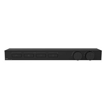Gessi Hi-Fi Термостат для душа, с вкл. до 4 источников одновременно, с полкой из черного мат. стекла, цвет: Black Metal PVD