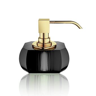 Decor Walther Kristall SSP Дозатор для мыла, настольный, хрустальное стекло, цвет: антрацит / золото