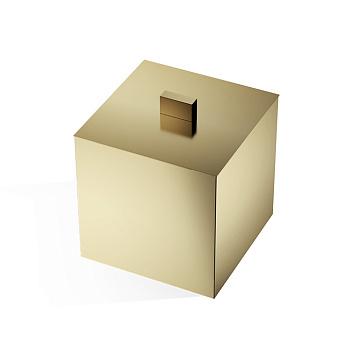 Decor Walther Cube DW 3560 Баночка универсальная 13x13x14.5см, с крышкой, цвет: золото матовое