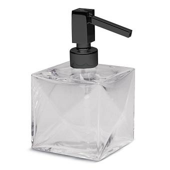 Bertocci Grimilde Дозатор настольный, цвет: прозрачный хрусталь/черный матовый
