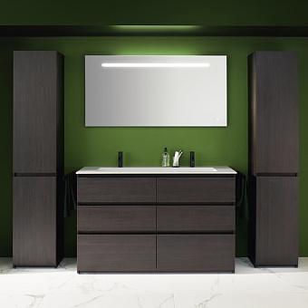 Burgbad Lin20 Комплект мебели 142х49.5х90.2см, напольный, с раковиной, с 6 ящиками, цвет: Mocca oak decor