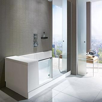 DURAVIT Shower + Bath Bathtub Ванна 1700х750хh2105 мм, прямоугольная с входной дверью и душевой шторкой, DX - правосторонняя, цвет: белый