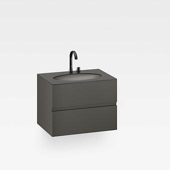 Armani Roca Island Тумба подвесная с раковиной  81.6х59хh61см со столешницей, сифон, 2 ящика, цвет: nero