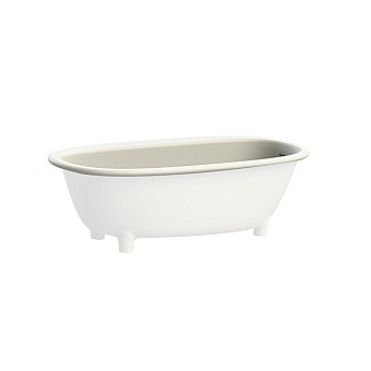 Devon&Devon Holiday Ванна полувстроенная 175.7х66.5х89.7 см, на ножках, из WHITE TEC PLUS, с донным клапаном с крышкой из WHITE TEC, цвет: белый