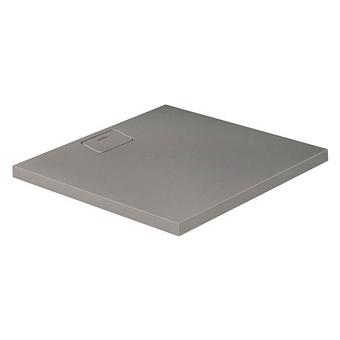 Duravit  Stonetto Поддон композитный квадратный  900x900х50mm, d90, цвет Бетон