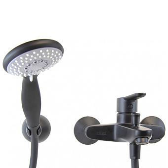 Webert Sax Смеситель для ванны с ручным душем, чёрный мат