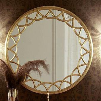 Круглое зеркало Eurodesign Prestige 110см с резной рамой из массива, цвет: золото