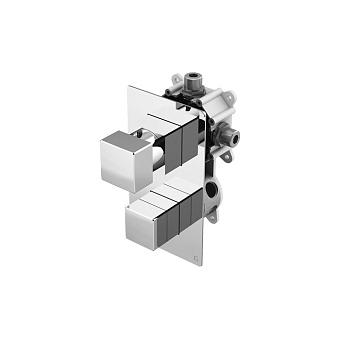 Gattoni Kubik Встроенный термостат c переключателем на 4-5 выхода (укомплектован GBOX), цвет хром
