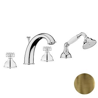 Смеситель на борт ванны Webert Ottocento OT730101 Бронза/белый