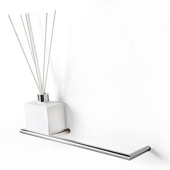 3SC Guy Полотенцедержатель и ароматический диффузор слева, подвесной, композит Solid Surface, цвет: белый матовый/хром