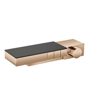 Axor Edge Смеситель для душа, термостат, на 3 источника, алмазная огранка, цвет: красное золото