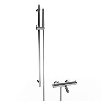 Stella Bamboo Термостатический смеситель для ванны 3267TM/302-6 со штангой и ручным душем, цвет: хром