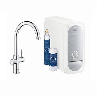Grohe Blue Home Смеситель для кухни с фильтрацией, охлаждением и газированием воды, цвет: хром
