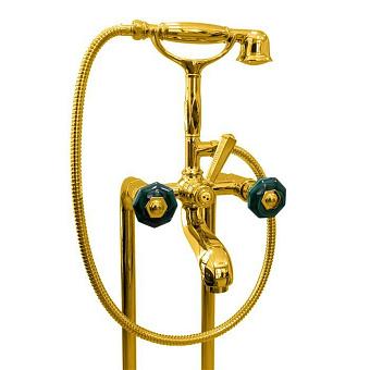Nicolazzi Teide Chic Смеситель на ножках для ванны с душем, золото