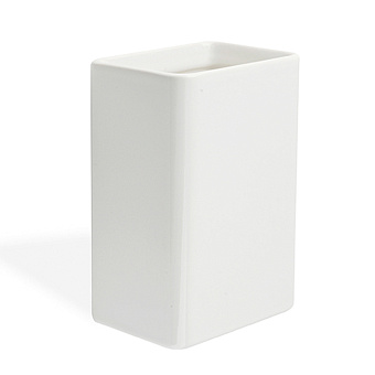 StilHaus Living Настольный стакан, цвет: хром/белая керамика