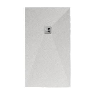Noken Slate Душевой поддон 100X80см, Mineral Stone, цвет: белый