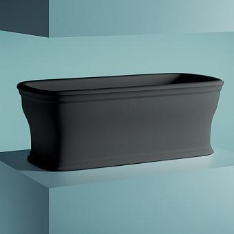 Artceram Neo Ванна отдельностоящая, 180х85хh65см, с переливом и слив.крышкой, Livingtec, цвет: черный матовый