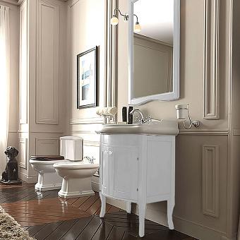 KERASAN Retro, Комплект мебели ,с закругленым фасадом, 69см, Цвет: bianco matt.