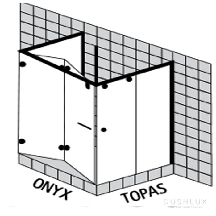 Sprinz Onyx Душевое ограждение 1200x1200x Н:2000мм