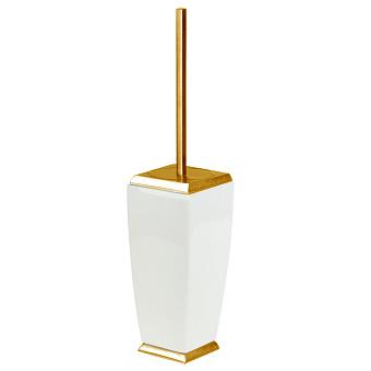 Gessi Mimi Ершик для унитаза напольный керамический, цвет: золото/белый