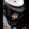 Karol Bania comp. №6, комплект напольной мебели 75 см. цвет: Эбеновое дерево фурнитура: хром