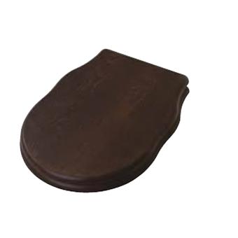 Artceram HERMITAGE Сиденье для унитаза, шарниры хром, цвет орех(noce) с микролифтом
