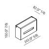 Agape Mach 2 Держатель для бумажных полотенец подвесной 24.3x15x8.2 см, цвет: сатин