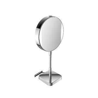 EMCO Prime Зеркало косметическое, настольное, LED, Ø202мм, настольн., snoer, 3x/7x кратное увеличение, цвет: хром