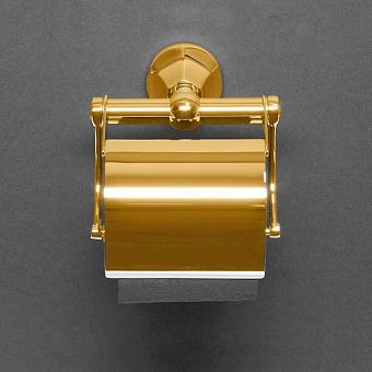Cristal et Bronze Charlety держатель для туалетной бумаги с крышкой, цвет: золото