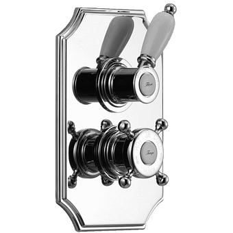 HUBER Victorian Встраиваемый термостатический смеситель для душа c запорным вентилем, цвет хром