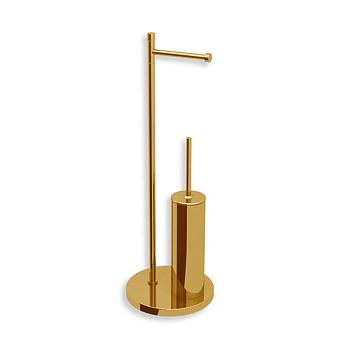 Bertocci Cinquecento Напольная стойка с ершиком и бумагодержателем, цвет: золото