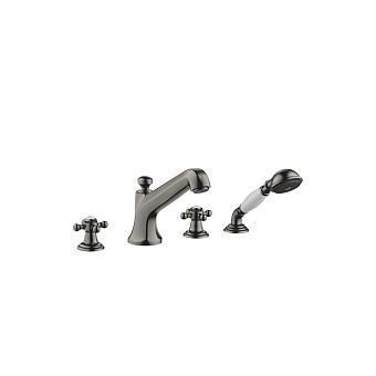 Dornbracht Madison Смеситель для ванны, на 4 отв., на борт, цвет: Dark Platinum matt