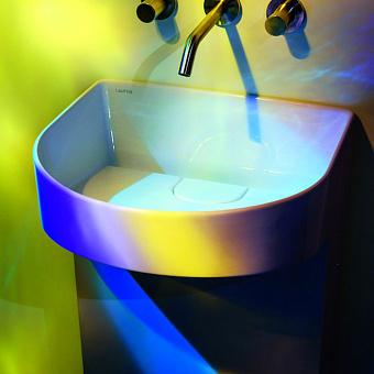 Laufen Sonar Раковина 410х380х900мм без перелива, без отв. под смеситель, напольная, крепл. к стене, цвет: белый
