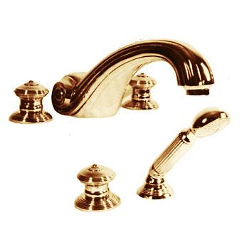 Cristal et Bronze Bonroche Смеситель для ванны, излив 215 мм, цвет золото 24 к.
