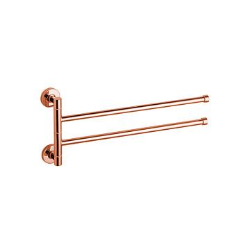 Bertocci Cinquecento Полотенцедержатель двойной, поворотный 37 см, цвет: розовое золото