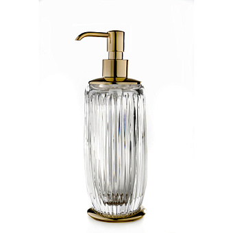 3SC ELEGANCE Дозатор настольный, цвет: прозрачный хрусталь/золото 24к.
