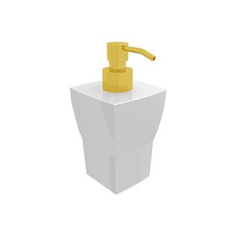 Bertocci Grace Дозатор настольный, цвет: белая керамика/золото матовое