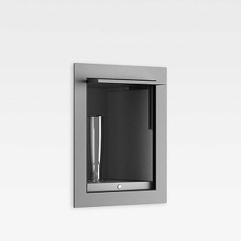 Armani Roca Island Комплект: Выдвижной гидроершик встроенный в шкафчик, шланг 1.4 м, цвет: silver/brushed steel