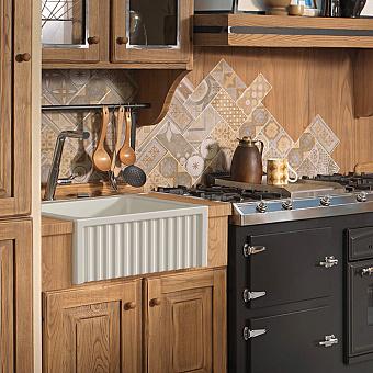 Kerasan Hannah Hampshire Раковина кухонная 600x470x220 мм, без отв под смеситель, цвет: белый